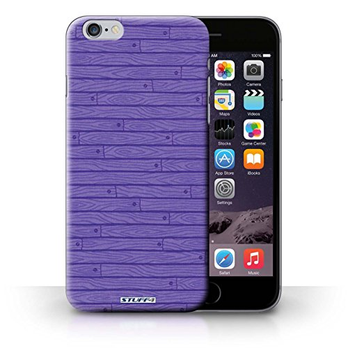 iCHOOSE Print Motif Coque de protection Case / Plastique manchon de telephone Coque pour iPhone 6+/Plus 5.5 / Collection Motif Bois / Pourpre