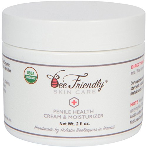 Organic Penile Health Cream By BeeFriendly, USDA Certified 100% Natural Penis Cream Moisturizer Aids With Dry, Chafing, Scaly, Cracked, Red, Itchy & Irritated Skin, Enhances Sensitivity Naturally 2 oz