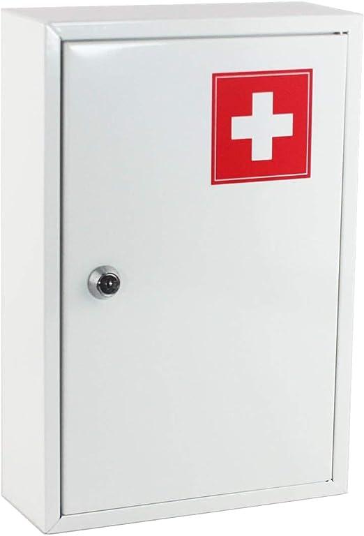 Dabuty Online, S.L. Botiquin de Primeros Auxilios, Caja Medica de Metal. Medidas 32 x 22 x 8,5 cm.: Amazon.es: Hogar