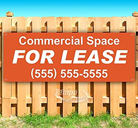 New Commercial Space for Lease 13 oz Heavy Duty Vinyl Banner Sign with Metal Grommets Flag, Advertising Store Many Sizes Available