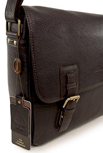 Umhängetasche / für Laptop geeignete Tasche Jasper von Ashwood - GRÖßE: B: 37 cm, H: 28 cm, T: 10,5 cm Dunkelbraun