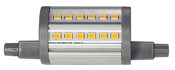 ECOBELLE® 1 x Bombilla Regulable LED R7S Focus 6W 750 Lúmenes, Color Blanco Cálido