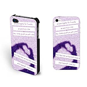 Hipster Love Heart Print Samsung Note 4 with Quotes Unique Purple Sand Design Case For Samsung Note 4 Cover Shell for Girls