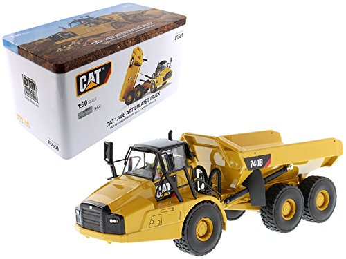 StarSun Depot CAT Caterpillar 740B Articulated Hauler/Dump Truck with Tipper Body and Operator High Line Series 1/50 Model by Masters
