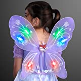 Purple Blinking Butterfly Wings