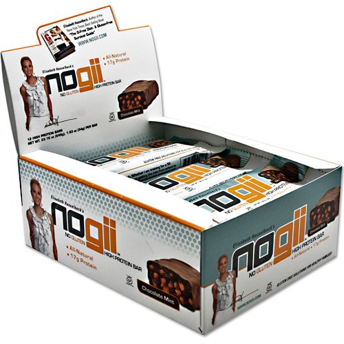 NoGii High Protein Nutritional Bar, Chocolate Mint, 12 Count