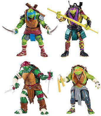 Ninja Turtles Group Pack Playmates Toys 90885 Teenage Mutant Ninja Turtles Movie Action Figure Set