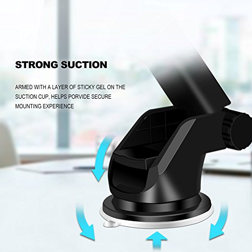 Automatic Qi Wireless Charger Car Mount Phone Holder For Samsung Galaxy S9 Plus/S9, S8 Plus/S8, S7/S7 Edge, Note 8/5, Apple iPhone X, 8 Plus/8 & Any Qi-enabled Device(Black) by TOFOCO COM (Image #3)