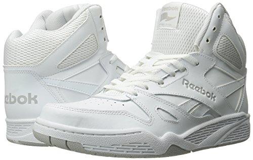 Reebok Men's Royal Bb4500 Hi Fashion Sneaker, White/Steel, 14 M US