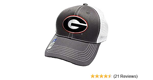c816d9fbc00 Amazon.com  Georgia Bulldogs Adjustable Gray Cap Mesh Back Hat  Clothing