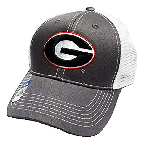 Georgia Bulldogs Adjustable Gray Cap Mesh Back Hat ()