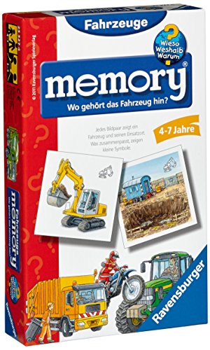 Ravensburger 23327 - WWW Wieso? Weshalb? Warum? Fahrzeuge memory® - Mitbringspiel