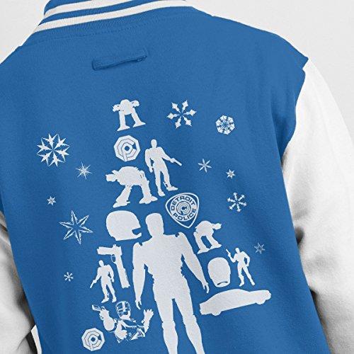 Tree Silhouette Jacket Robocop Men's white Royal Christmas Varsity HZxw7xqT