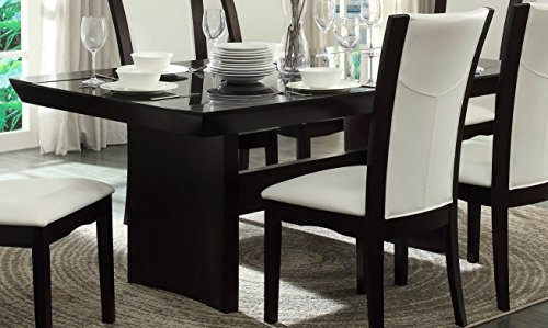 Homelegance Daisy Dining Table with Glass Insert