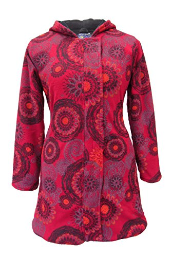Dragon Winter Wicked New With Hood Coat Red Bohemian Fleece Mandala 1qwdn4FXw