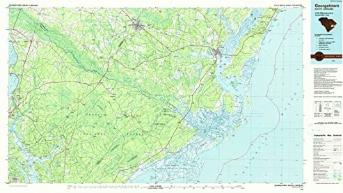 Amazon Com Yellowmaps Georgetown Sc Topo Map 1 100000 Scale 30 X