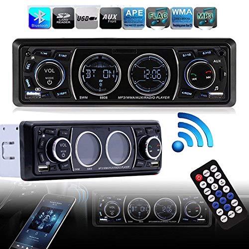 FidgetFidget Bluetooth 1Din Car Stereo Audio in-Dash MP3 Player Radio USB/AUX/FM Receiver H Y