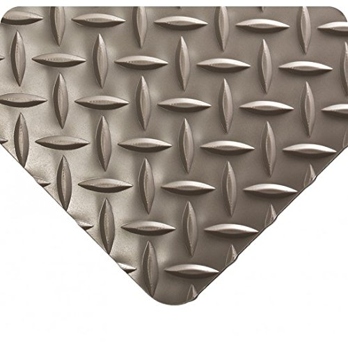 - Wearwell 385.316x3x29GY Diamond-Plate Runner Mat, 29' Length x 3' Width x 3/16
