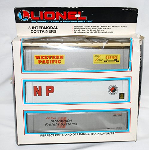 Lionel 6-12907 Set of THREE Intermodal Containers O NP WP CP Rail Canadian Pacific Canadian Pacific Cp Rail