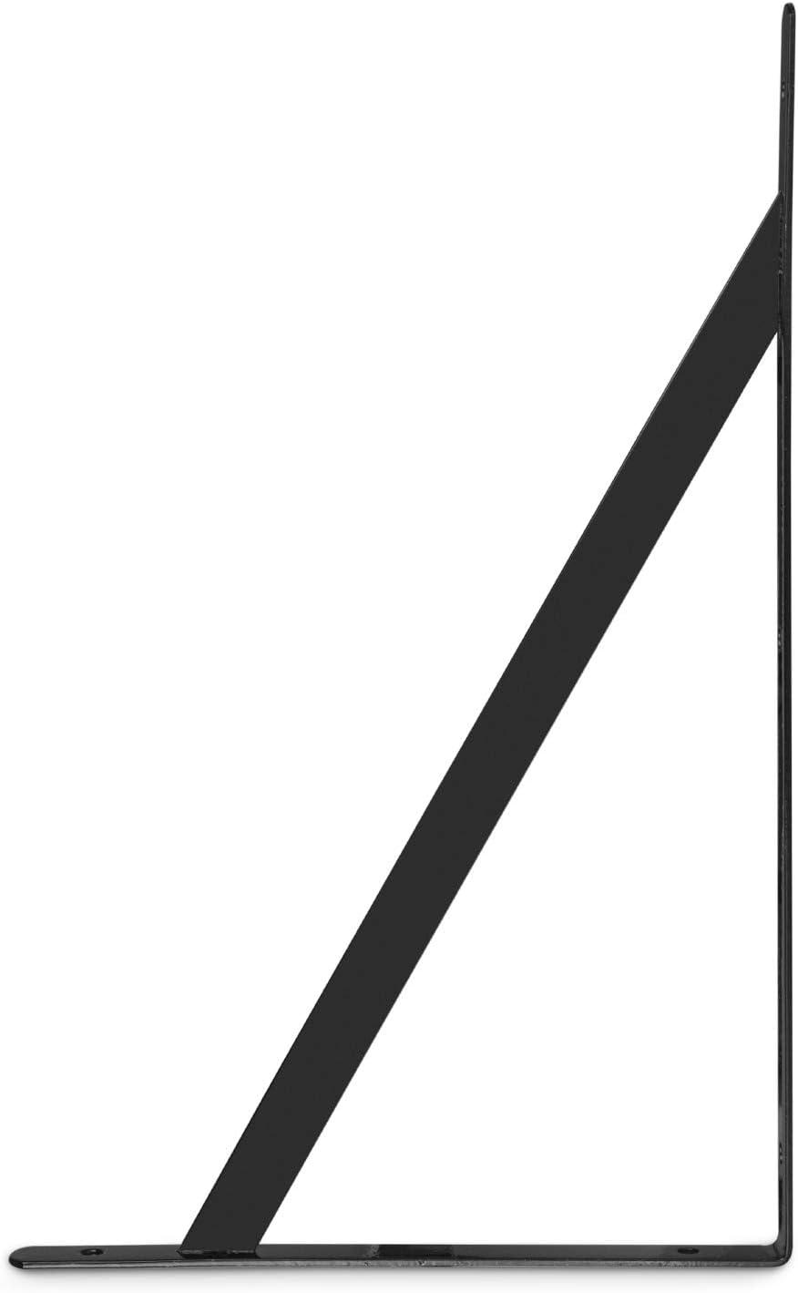 STARVAST Equerre Etagere Murale Support dangle Brace avec 20 pcs Vis et 8 pcs Ancres /Équerres /Étag/ères 200mm x 120mm Noir 4 Pcs Supports Triangulaires de 90 Degr/és en Acier