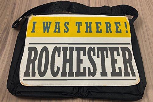 Borsa Tracolla Retro Arte Metropole Rochester USA Stampato