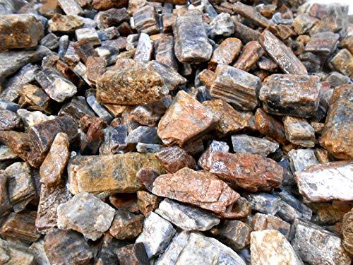 (Rockhound's 1st Choice Rock Tumbler Gem Refill Kit & Specimens-Brazil Kyanite Crystal Chunks Rough-)