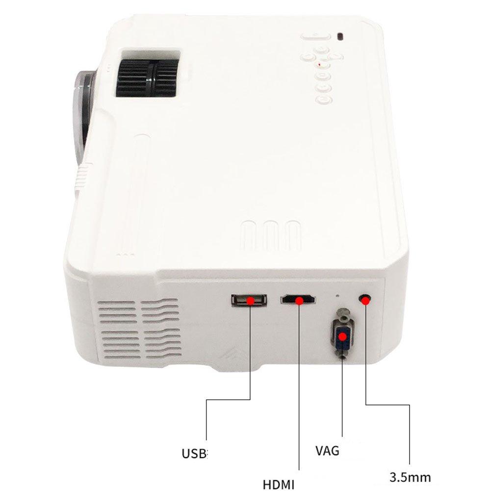 ミニ ポータブルプロジェクター、 画面共有 内蔵バッテリ ムービープレーヤー 画面投影 ワイヤレス接続 ホームシアター Uディスク、 3D HD 1080P Androidスマート,Wirelessconnections B07QVPDS1P Wirelessconnections