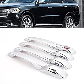 Nuevo cromado tirador de puerta lateral borde w/Smart Key Durable para Dodge Grand Caravan/Durango 2011 - 2015: Amazon.es: Coche y moto