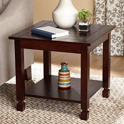 Phenomenal Amazon Com End Table Espresso Two Espresso End Tables Gmtry Best Dining Table And Chair Ideas Images Gmtryco