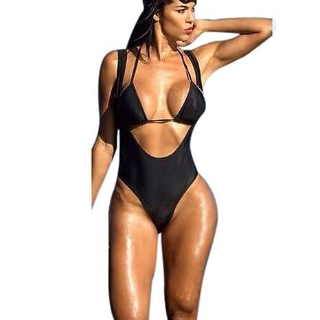 ASC Conjunto de bikini de mujer de moda Push-Up Bra ...