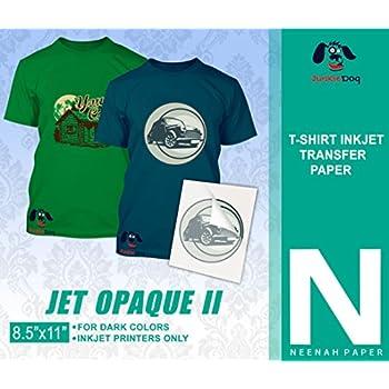 "JET-OPAQUE II HEAT TRANSFER PAPER 8.5 X 11"" CUSTOM PACK 25 SHEETS"