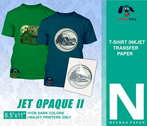 JET-OPAQUE II HEAT TRANSFER PAPER 8.5 X 11' CUSTOM PACK 25 SHEETS