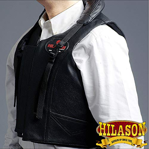 - HILASON Small Leather Bareback Pro Rodeo Horse Riding Protective Vest