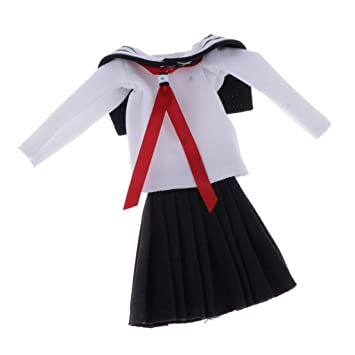 Amazon.es: SM SunniMix Mini Lindo Uniforme Escolar Falda para 1/6 ...