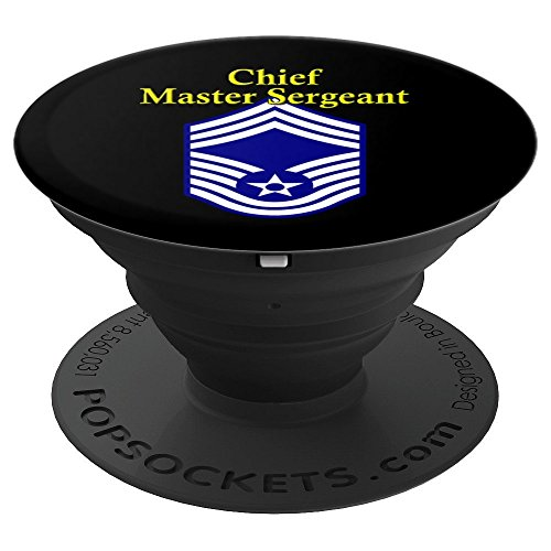 Chief Master Sergeant - Air Force Rank Insignia - PopSockets Grip and Stand for Phones and Tablets Chief Master Of The Air Force