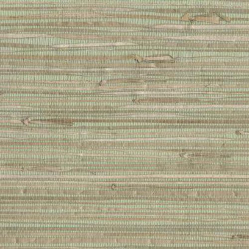 York Wallcoverings NZ0780 Sea Grass Grasscloth Wallpaper, Pale Green, Cream, Beige, Tan, Brown - Faux Grass Cloth