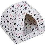 Favorite Pyramid Cat Bed, Easy Care Mini Animal Cando, Kitten Play House, Puppy/Dog Den