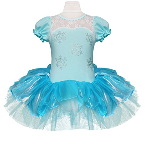 Just Dance Halloween Costume (YiZYiF Baby Girl Child Ballet Outfits Child Leotard Tutu Dancewear Party Dress Blue 7-8)
