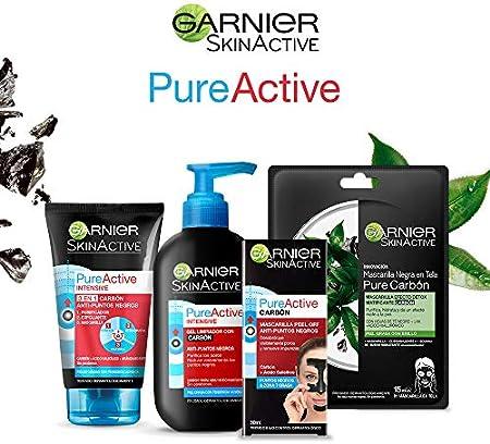 Garnier Skin Active - gel con dosificador Pure Active Intensif, carbón; 200 ml