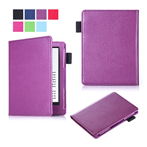 New Kindle E-reader case(8th Generation, 2016), SinYong Lightest and Thinnest Protective Leather Case Cover with Stylus Loop for Amazon All-New Kindle 2016 E-reader 6-inch (Lighted Tower Case)