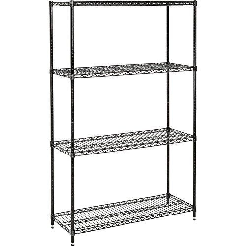 (Nexel 798761 4-Shelf Wire Shelving Unit, 18