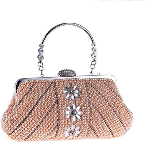 レディースハンドバッグ、財布、ハンドバッグ、ファッションイブニングバッグ、(カラー:シャンパン)フェミニンでエレガント 美しいファッション