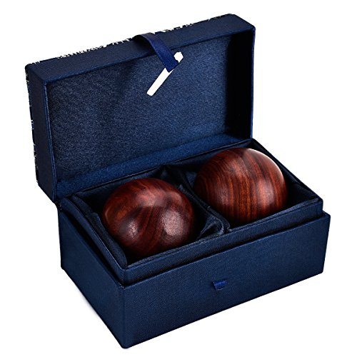- Wooden Stress Relieve Balls, Chinese Health Hand Massage Exercise Balls, 2PCS