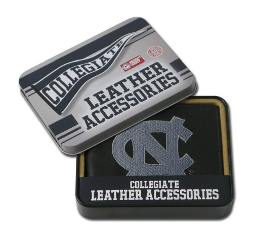 NCAA North Carolina Tar Heels Embroidered Leather Billfold Wallet