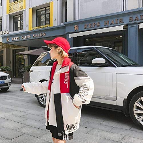 Digitale Lunghe Primaverile Tempo Maniche Giubbino Fashion Stile Coat Rot Stampate Autunno Eleganti Sportivo Outerwear Donna Misti Facile Classiche Harajuku Sciolto Giacche Donne Colori Libero w0CfqtxHw