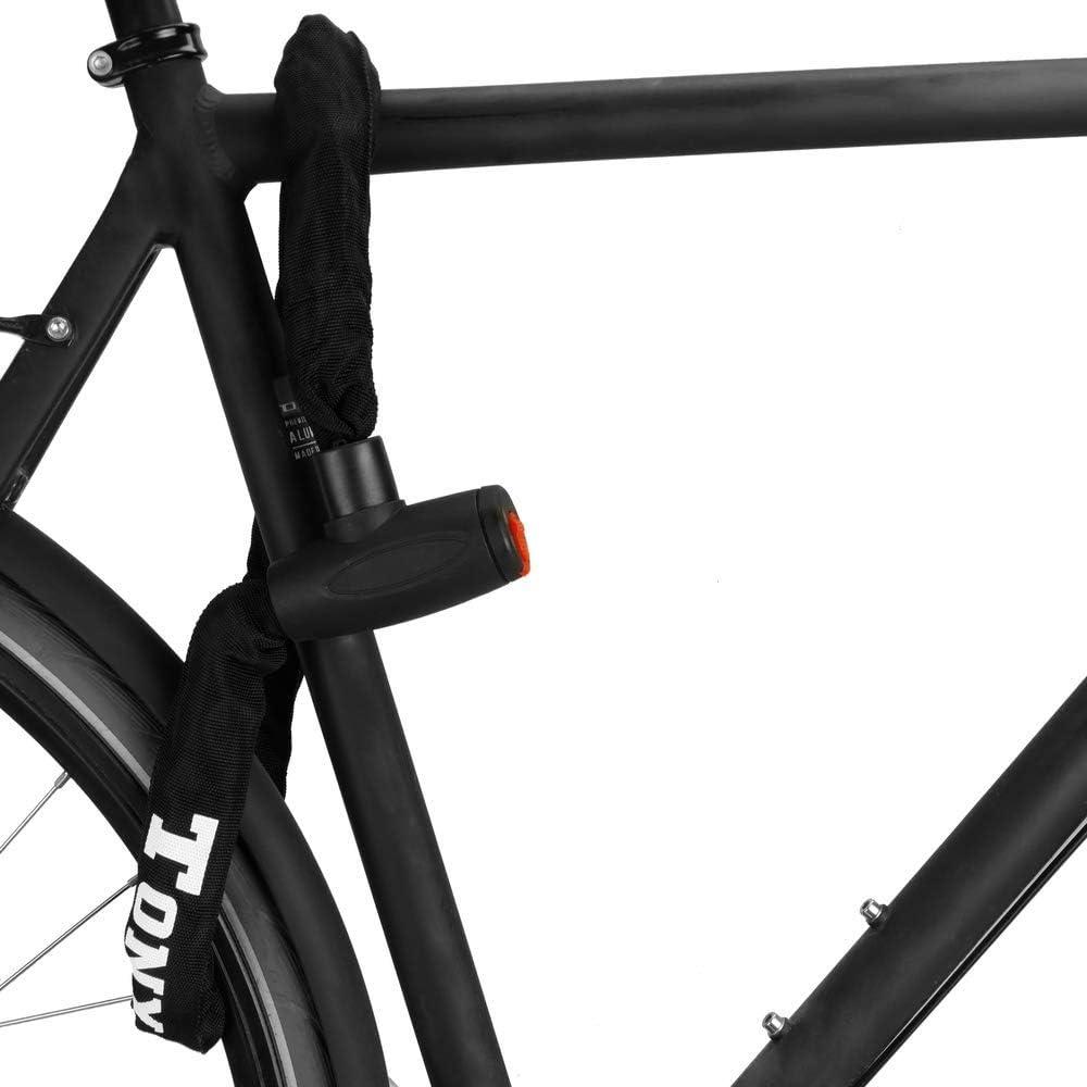 PrimeMatik - Cadena antirrobo de Acero con candado para Bicicleta ...