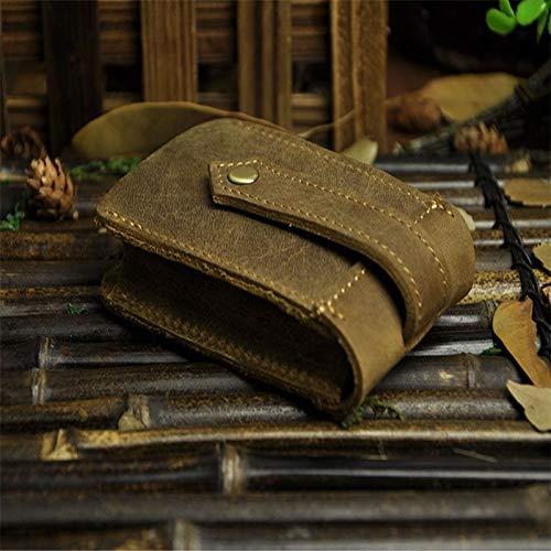 Funnmart Steam Punk Men Casual Brown Key Bag Genuine Leather Men Fashion Car Key Holders Vintage Leather Key Case