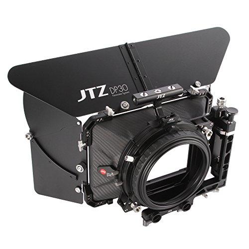 (JTZ DP30 Cine Carbon Fiber 4x4 Matte Box with 15mm/19mm Rod Rail Rig and Top Handle for Sony FS5 FS7 ARRI RED Canon C100 C200 C300 BM D Blackmagic BMPCC BMCC Pocket Cinema Panasonic GH4 GH5 Camera)