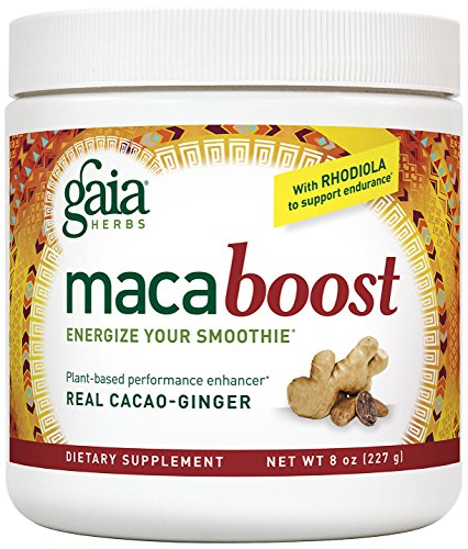 Gaia Herbs Maca Boost Supplement, Cacao Ginger, 8 Ounce - Energy & Stamina, Aids Recovery, Vegan, Gluten Free ()