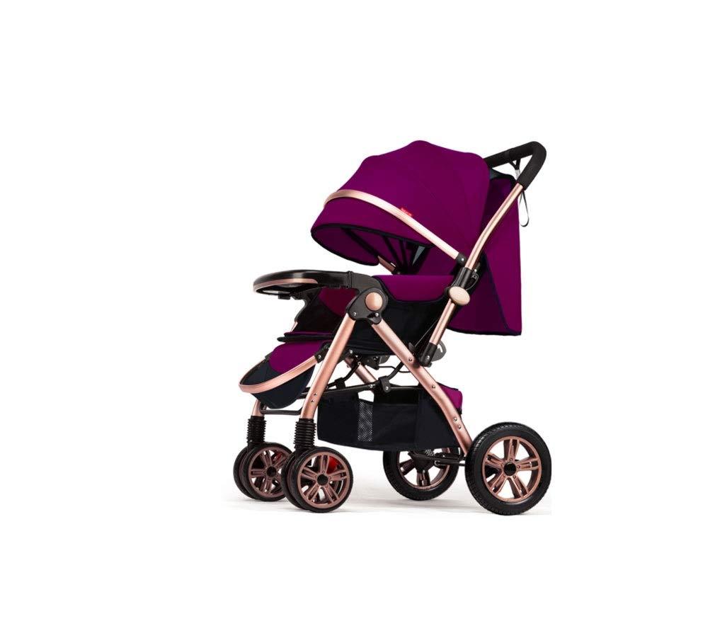 二方向調節カートを日除けにベビーカー折りたたみ安全多機能大スペースベビーカー ( Color : 紫の , Size : 54*78*110cm )   B07QPMRSWQ